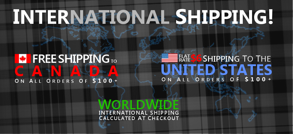 Free Canada Shipping | Flat Rate for United States | International shipping calculated at checkout
